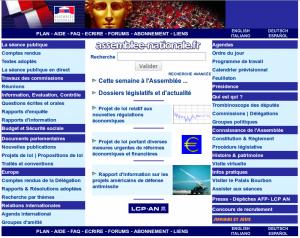 Page d'accueil, le 4 mai 2001