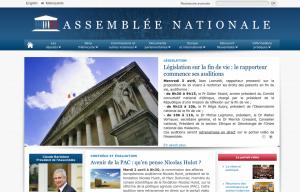 Page d'accueil, le 2 avril 2013, version actuelle
